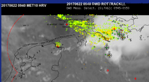 rotation tracks and mesocyclone detections